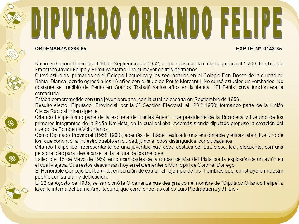 DIPUTADO ORLANDO FELIPE
