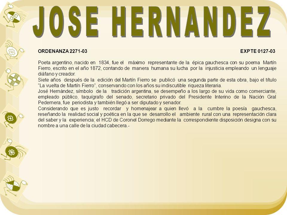 JOSE HERNANDEZ ORDENANZA 2271-03 EXPTE 0127-03