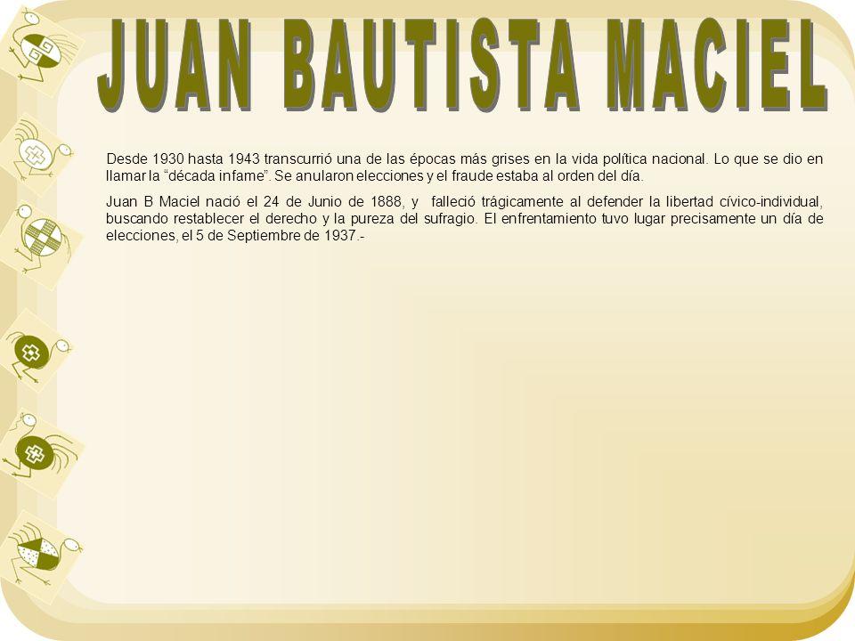 JUAN BAUTISTA MACIEL