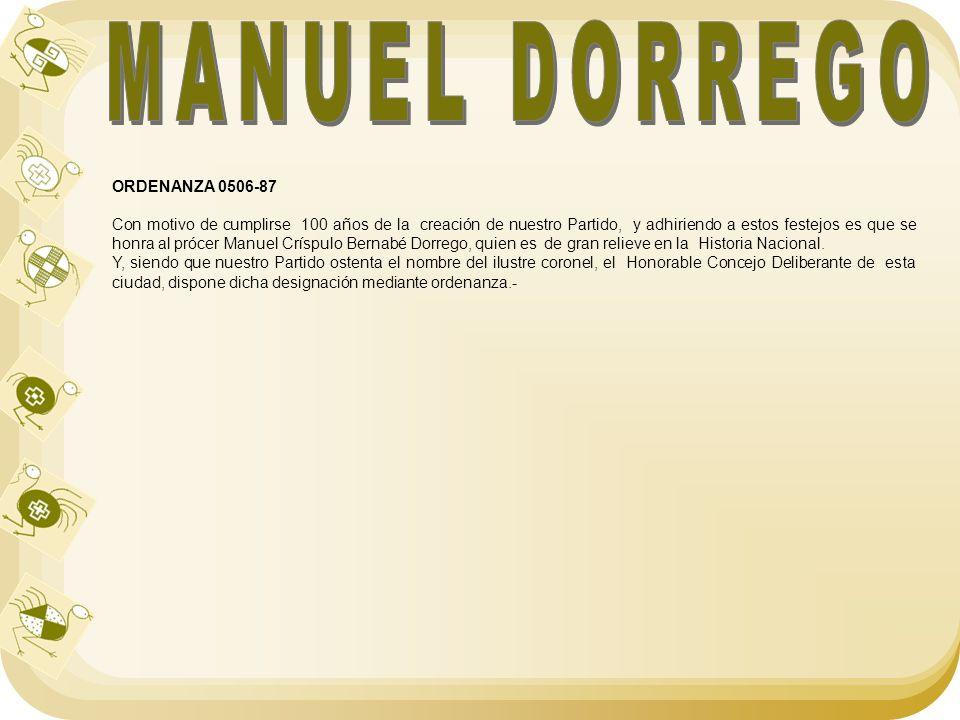 MANUEL DORREGO ORDENANZA 0506-87
