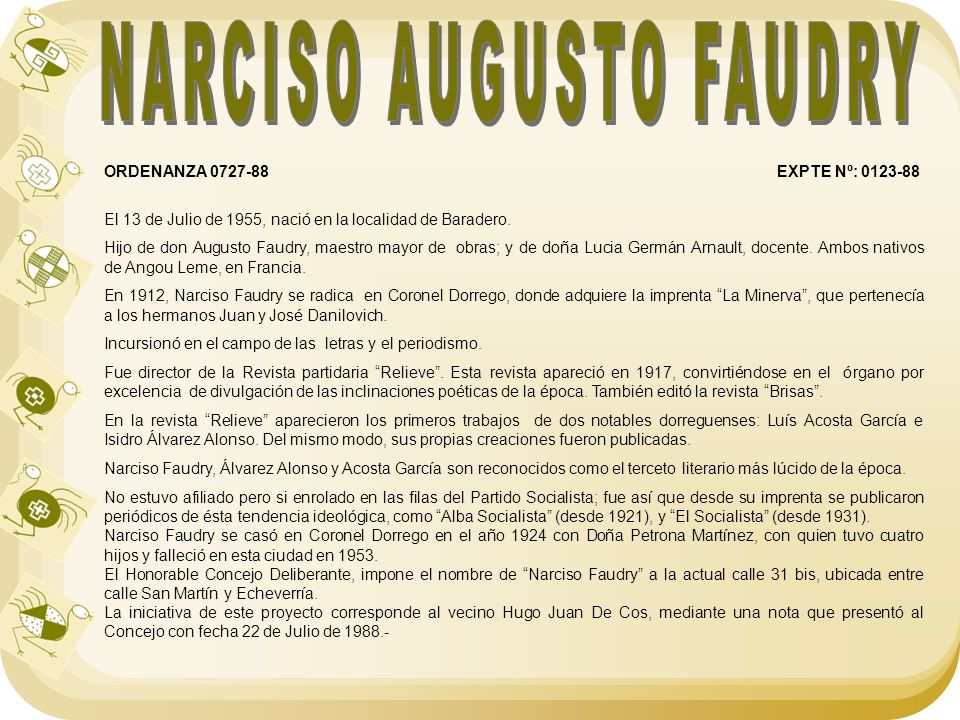 NARCISO AUGUSTO FAUDRY