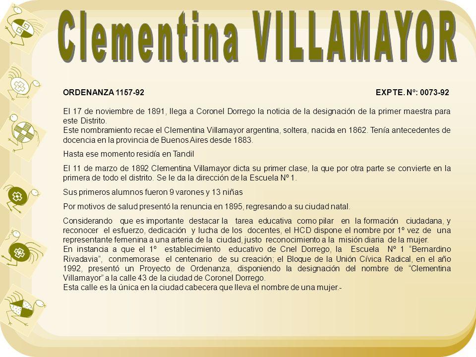 Clementina VILLAMAYOR