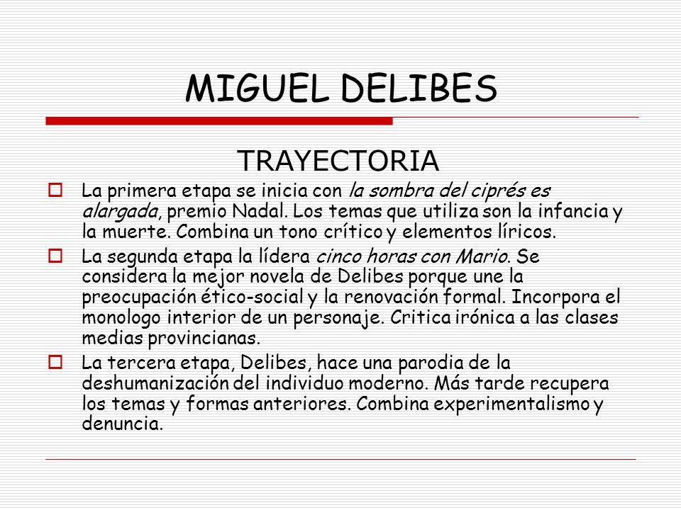 MIGUEL DELIBES TRAYECTORIA