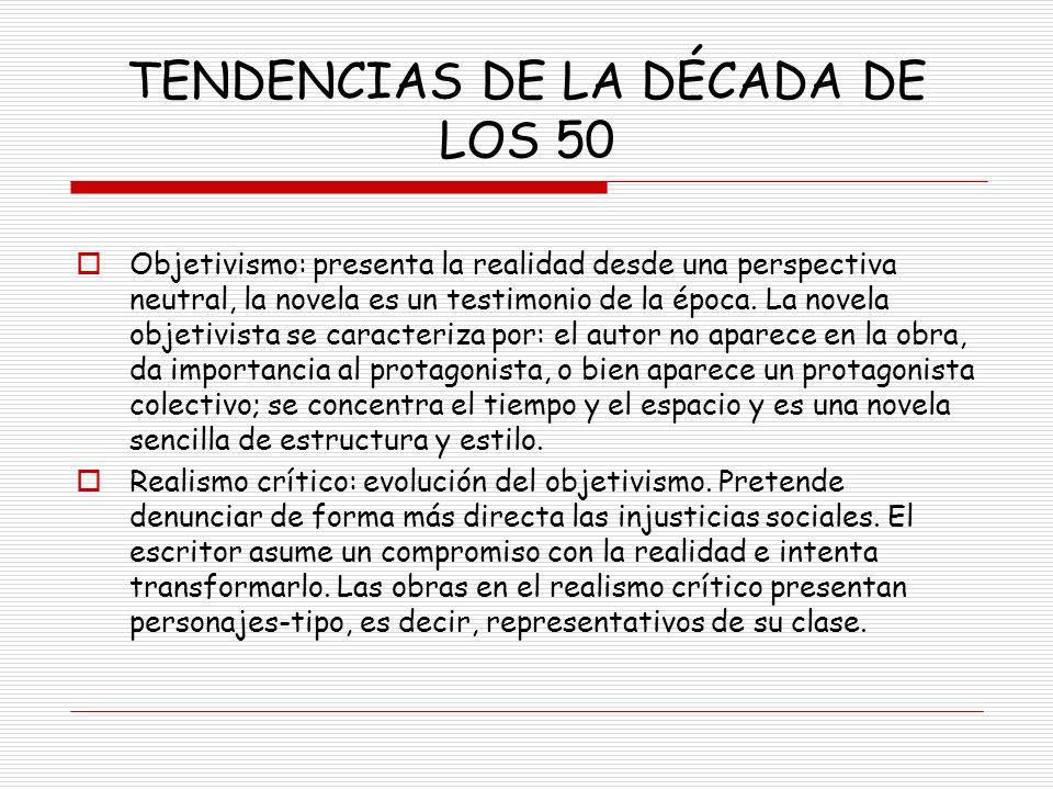 TENDENCIAS DE LA DÉCADA DE LOS 50