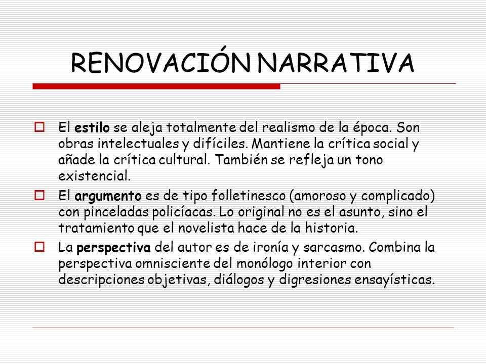 RENOVACIÓN NARRATIVA