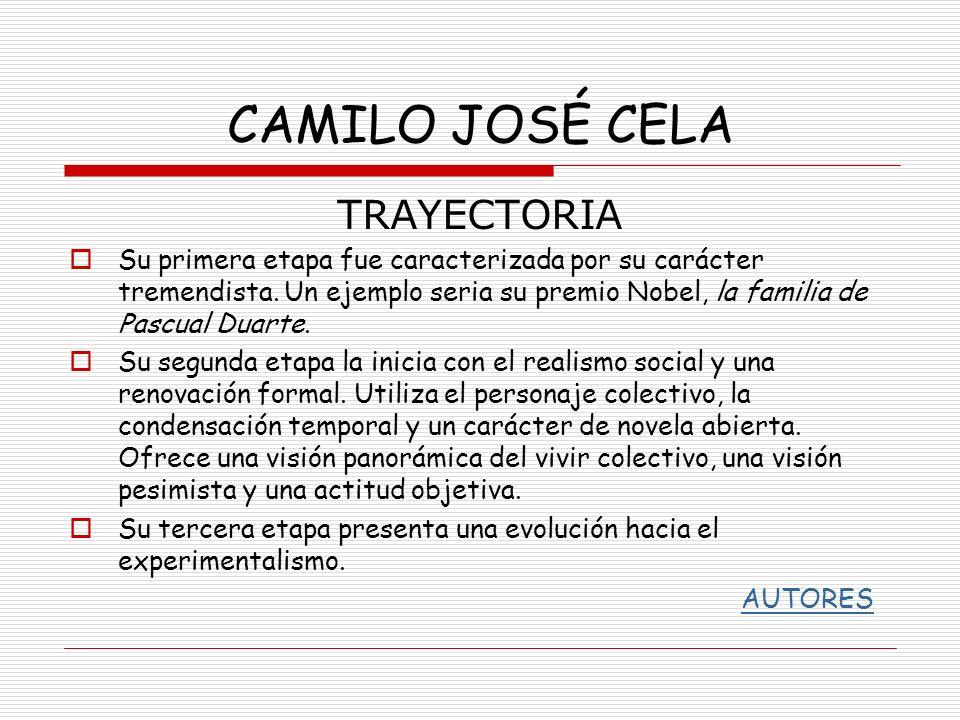 CAMILO JOSÉ CELA TRAYECTORIA