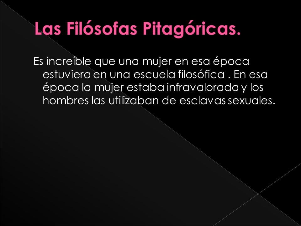Las Filósofas Pitagóricas.