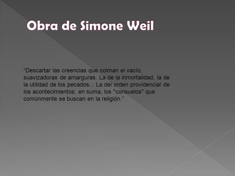 Obra de Simone Weil
