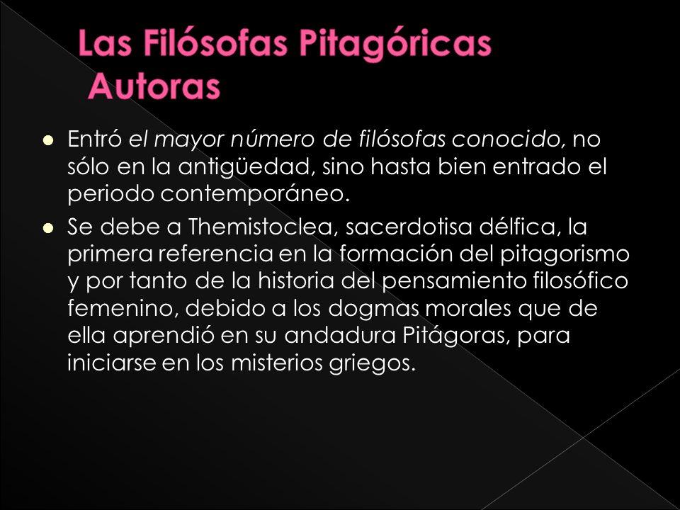 Las Filósofas Pitagóricas Autoras