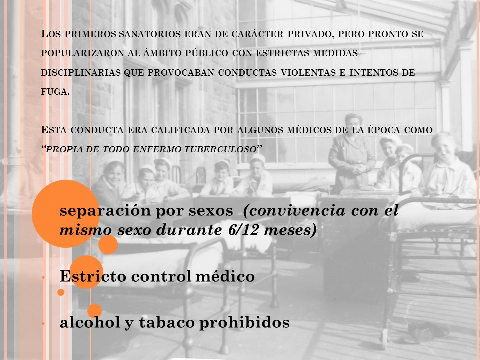 Estricto control médico alcohol y tabaco prohibidos