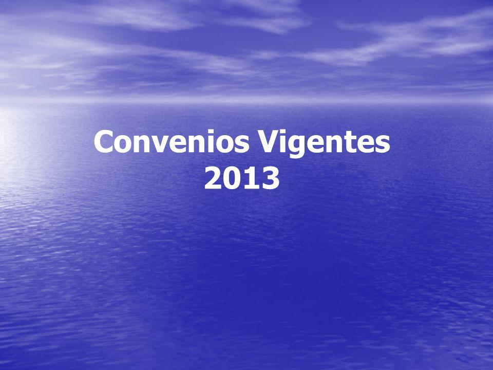 Convenios Vigentes 2013