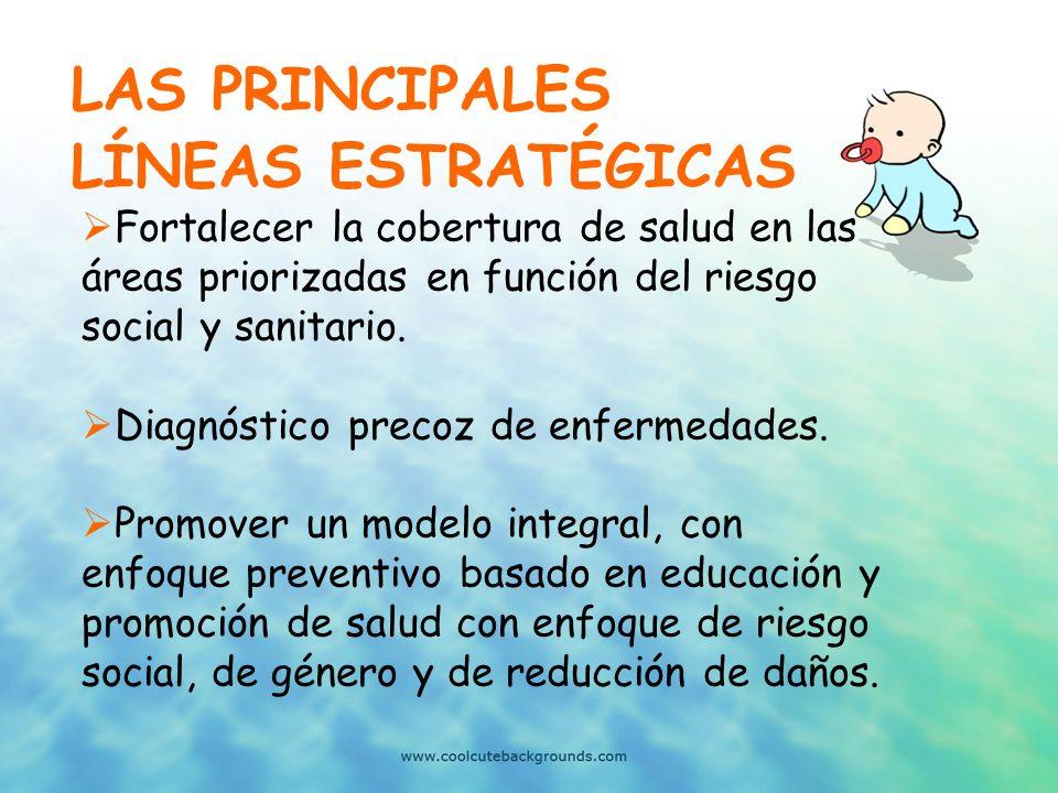 LAS PRINCIPALES LÍNEAS ESTRATÉGICAS