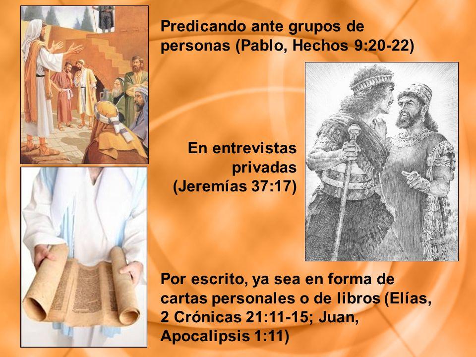 Predicando ante grupos de personas (Pablo, Hechos 9:20-22)