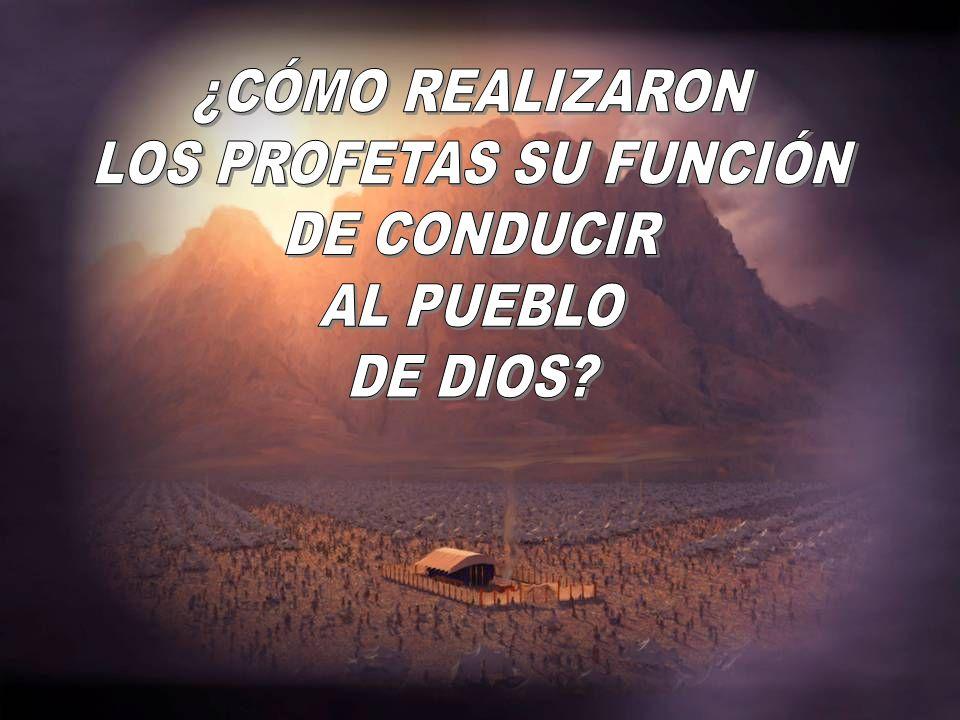 LOS PROFETAS SU FUNCIÓN