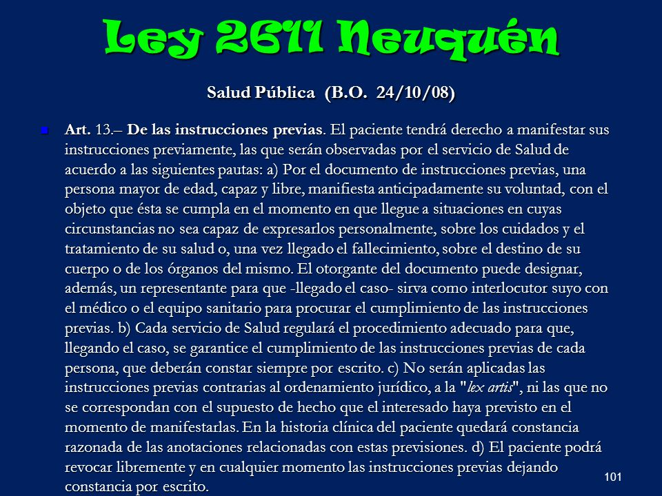 Ley 2611 Neuquén Salud Pública (B.O. 24/10/08)