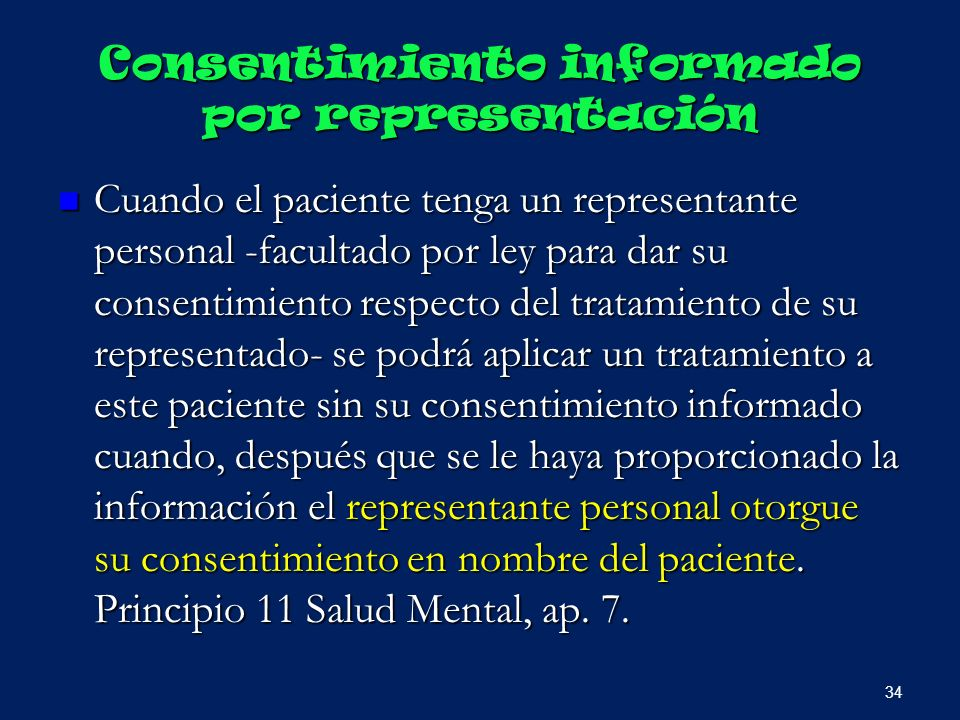 Consentimiento informado por representación