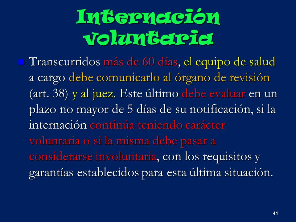 Internación voluntaria