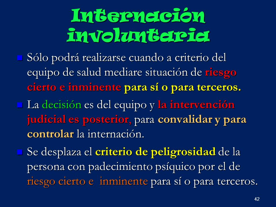 Internación involuntaria