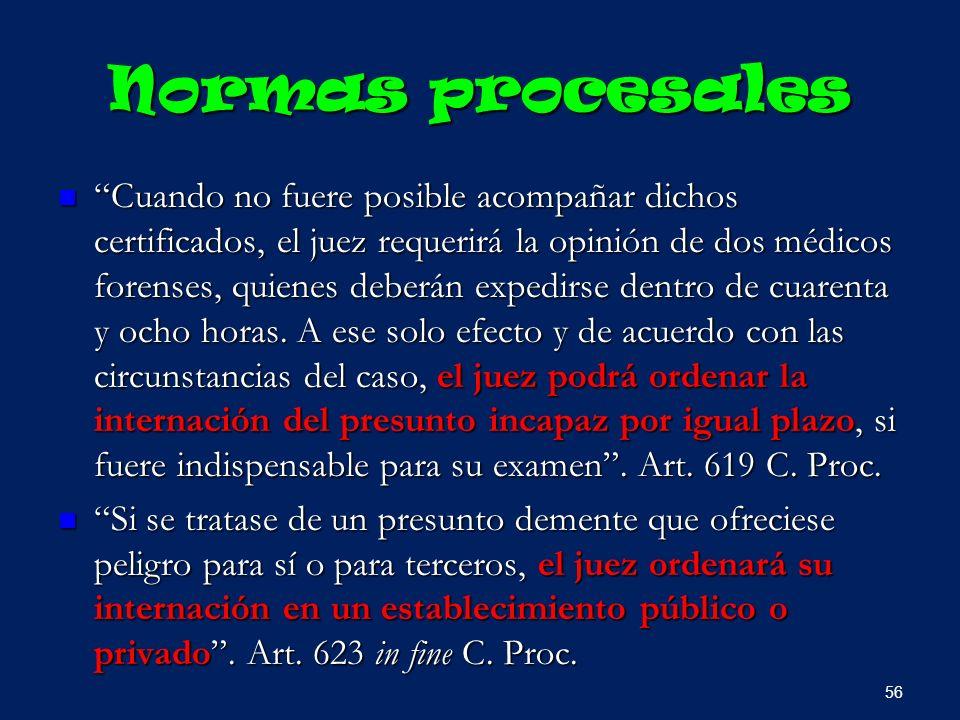 Normas procesales