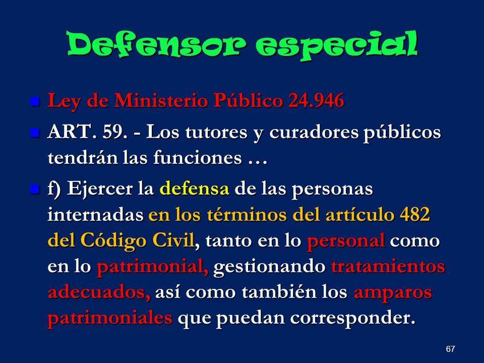 Defensor especial Ley de Ministerio Público 24.946