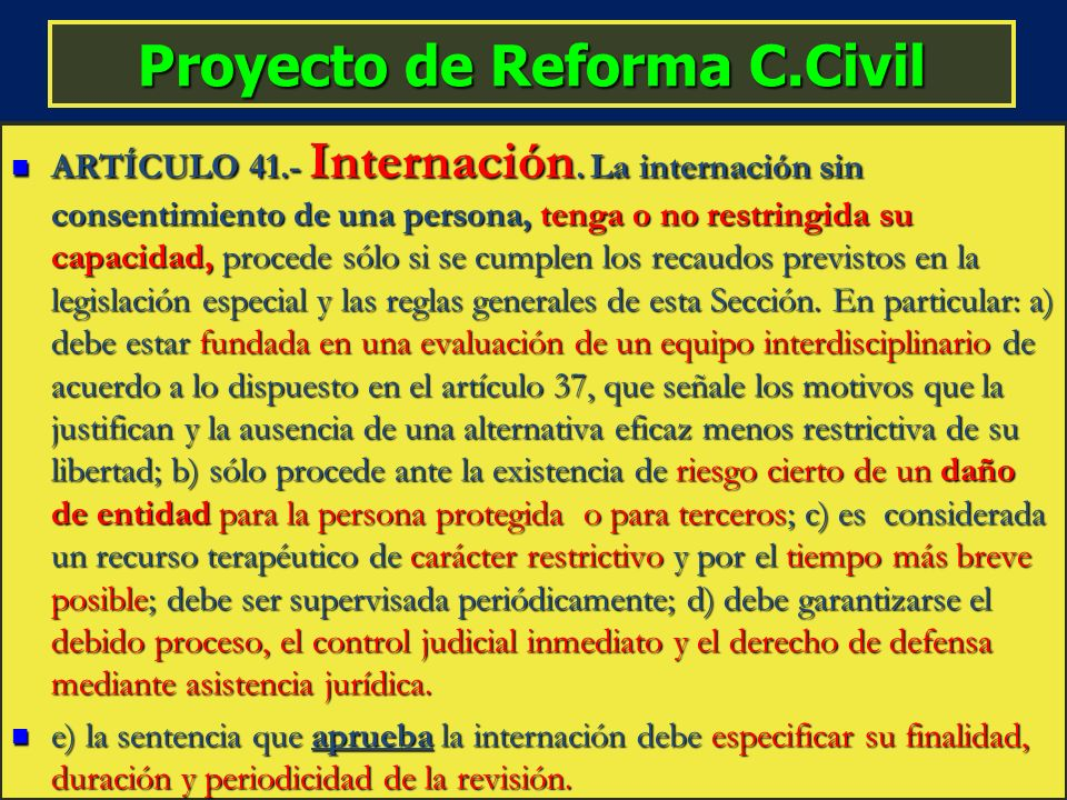 Proyecto de Reforma C.Civil