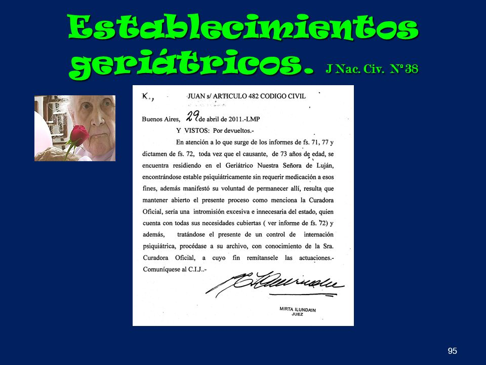 Establecimientos geriátricos. J Nac. Civ. Nº38