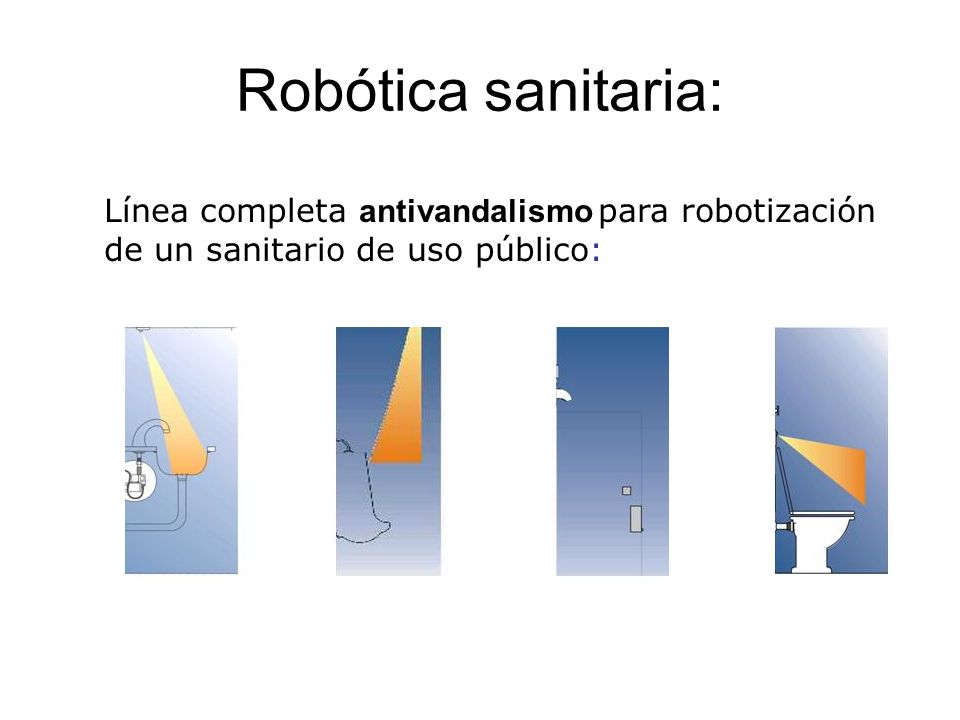 Robótica sanitaria: Línea completa antivandalismo para robotización de un sanitario de uso público: