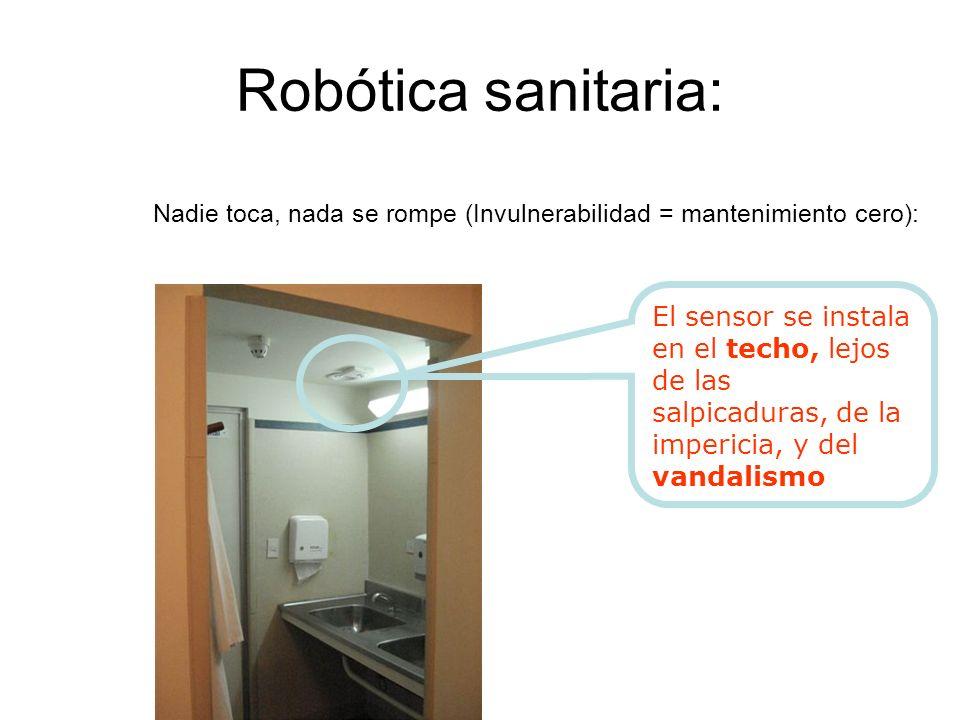 Robótica sanitaria: Nadie toca, nada se rompe (Invulnerabilidad = mantenimiento cero):