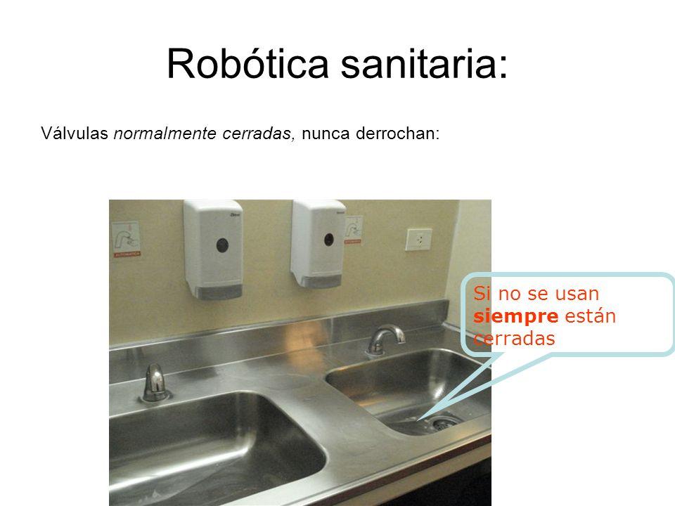 Robótica sanitaria: Si no se usan siempre están cerradas