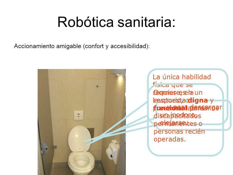 Robótica sanitaria: Accionamiento amigable (confort y accesibilidad):