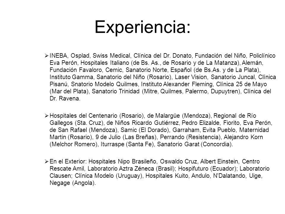 Experiencia: