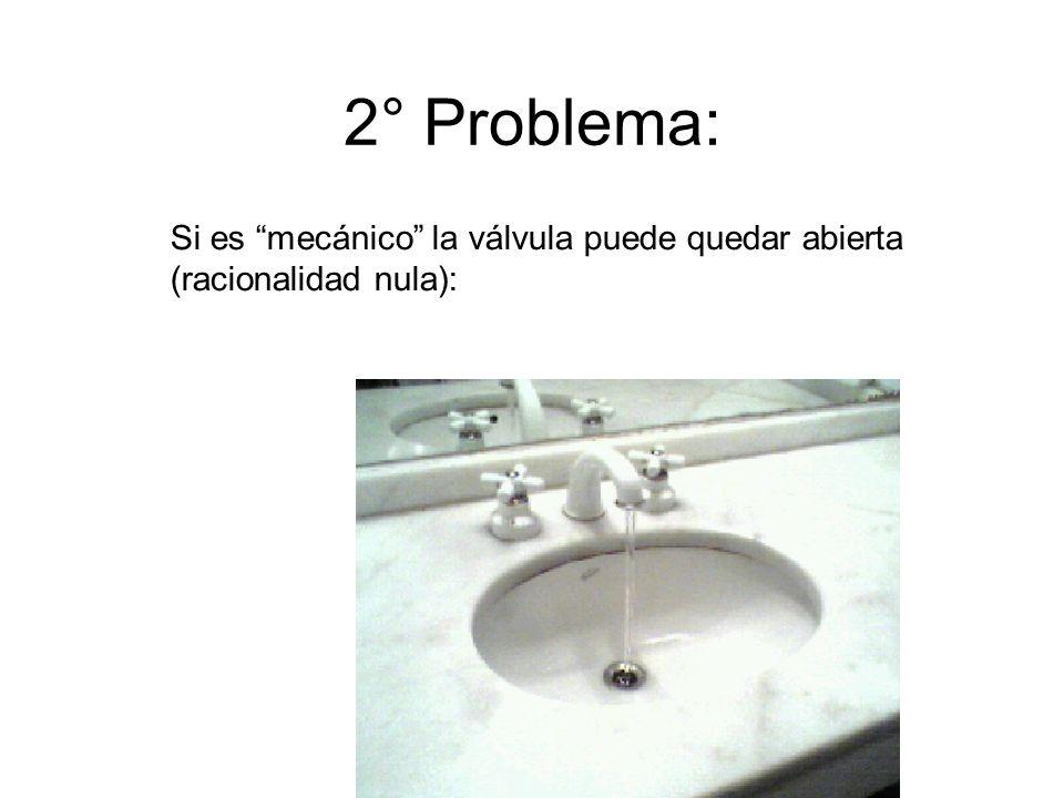 2° Problema: Si es mecánico la válvula puede quedar abierta (racionalidad nula):