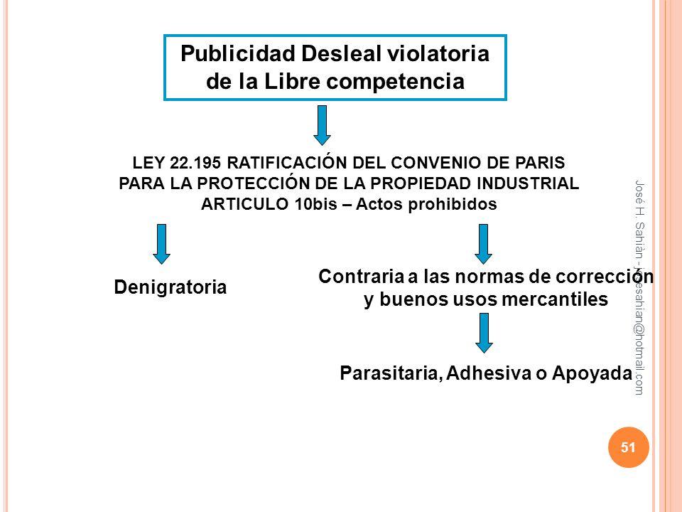 Publicidad Desleal violatoria de la Libre competencia