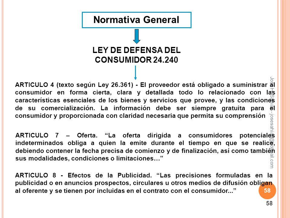 LEY DE DEFENSA DEL CONSUMIDOR 24.240