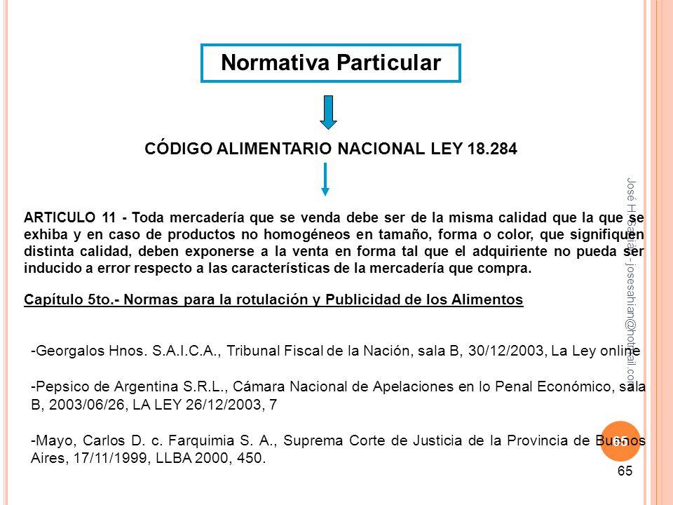 CÓDIGO ALIMENTARIO NACIONAL LEY 18.284