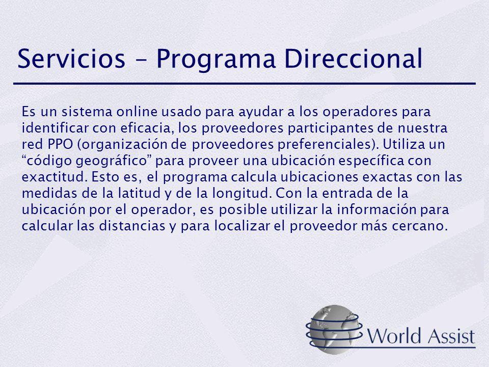 Servicios – Programa Direccional