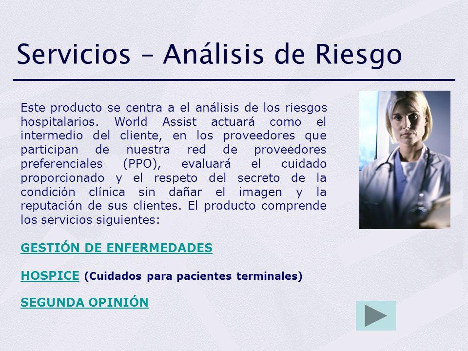 Servicios – Análisis de Riesgo