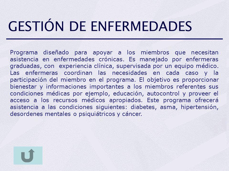 GESTIÓN DE ENFERMEDADES