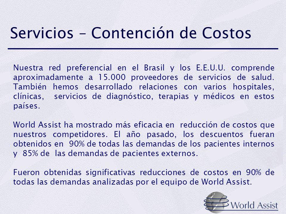 Servicios – Contención de Costos