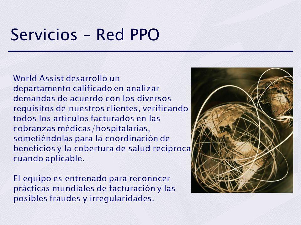 Servicios – Red PPO World Assist desarrolló un