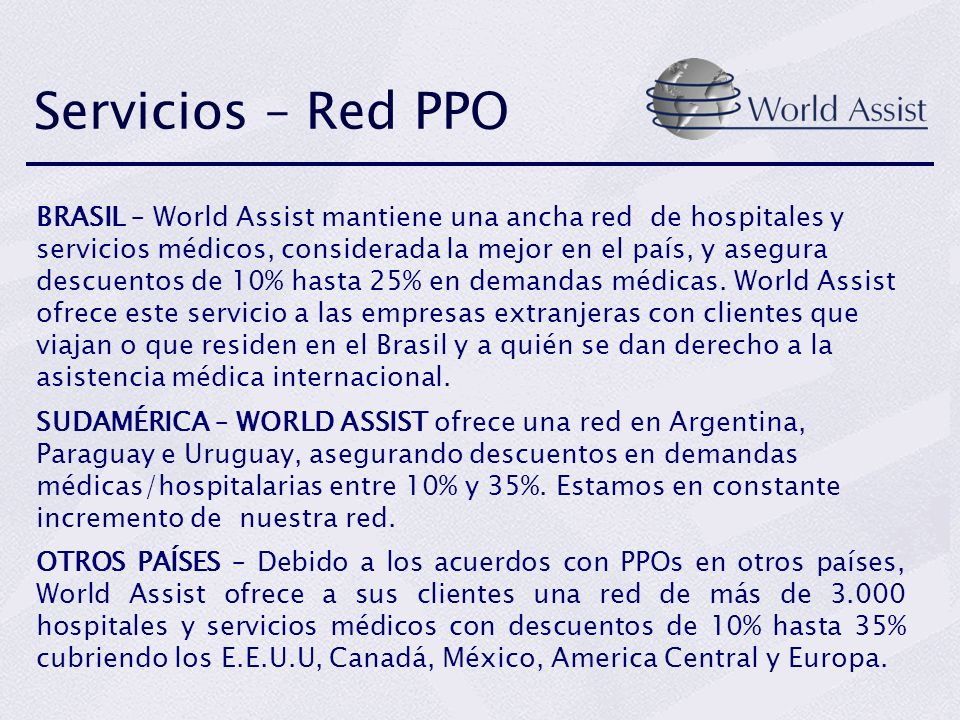 Servicios – Red PPO