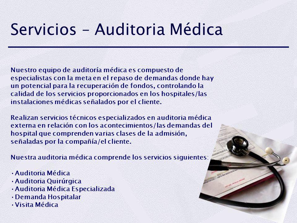 Servicios – Auditoria Médica