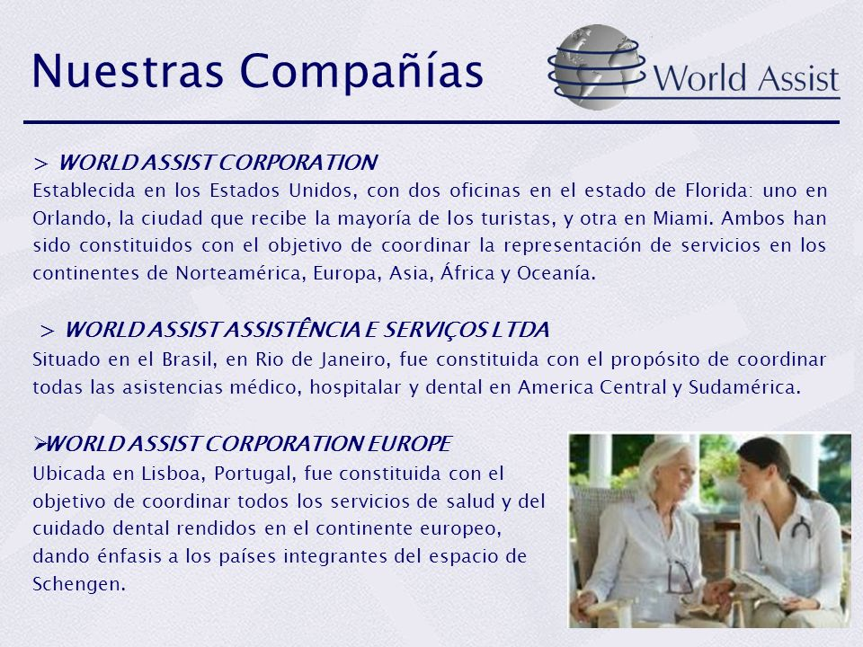 Nuestras Compañías > WORLD ASSIST CORPORATION