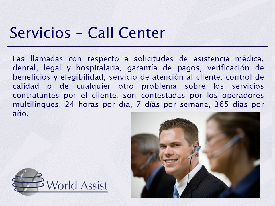 Servicios – Call Center