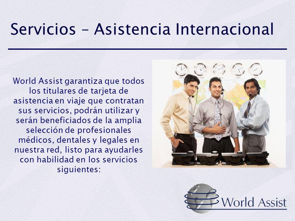 Servicios – Asistencia Internacional