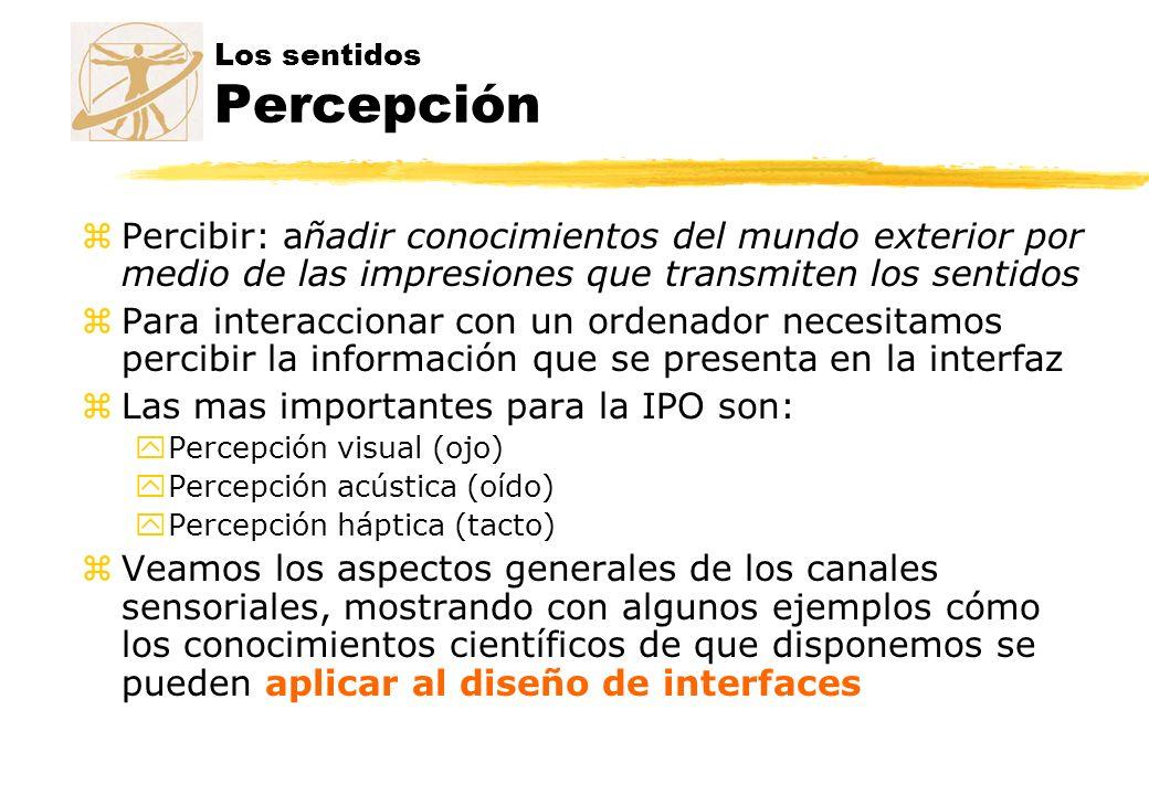 Los sentidos Percepción