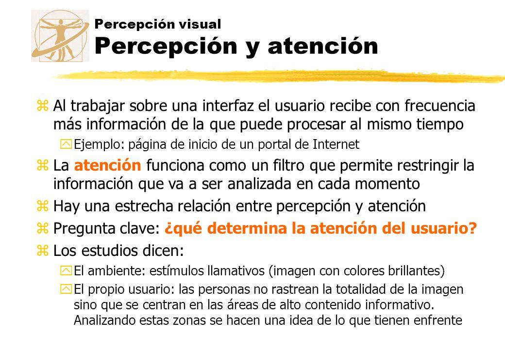 Percepción visual Percepción y atención