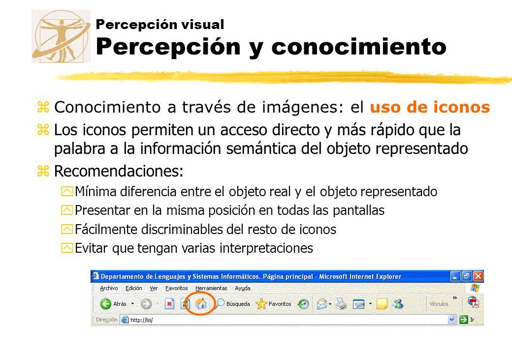 Percepción visual Percepción y conocimiento