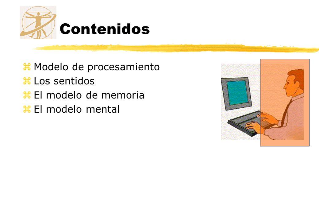 Contenidos Modelo de procesamiento Los sentidos El modelo de memoria