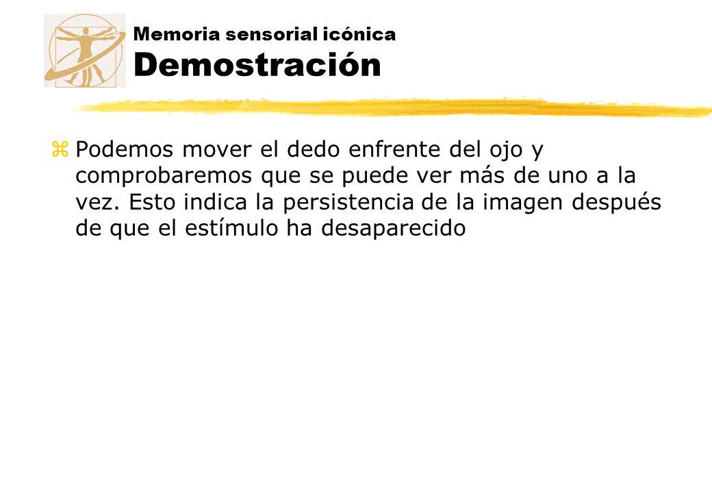 Memoria sensorial icónica Demostración